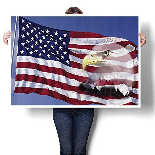 SCOCICI1588 3D Hand Painting Bless America Flag in for sale  Delivered anywhere in USA