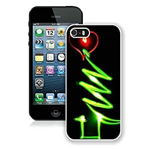 Unique Glow Iphone 5S Protective Cover Case Christmas Tree iPhone 5 5S TPU Case 1 White