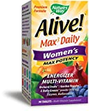Nature's Way Alive! Max3 Daily Women's Multivitamin, Food-Based Blends (1,130mg per serving) and Antioxidants, 90 Tablets For Sale