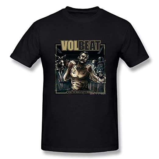 New Volbeat Seal The Deal Tour Men/'s Black T-Shirt Size S M L XL 2XL 3XL