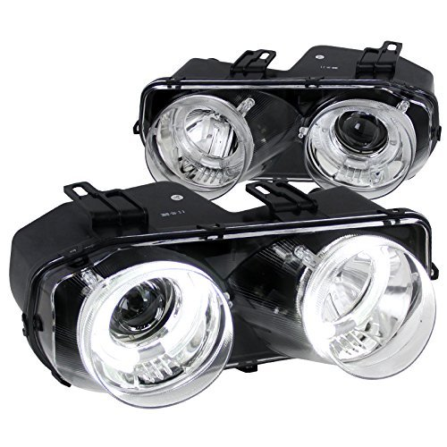 Spec-D Tuning LHP-INT94-WJ Acura Integra Rs Gs Ls Chrome Halo Projector Headlights Lamps - Acura Integra Halo Projector Headlights