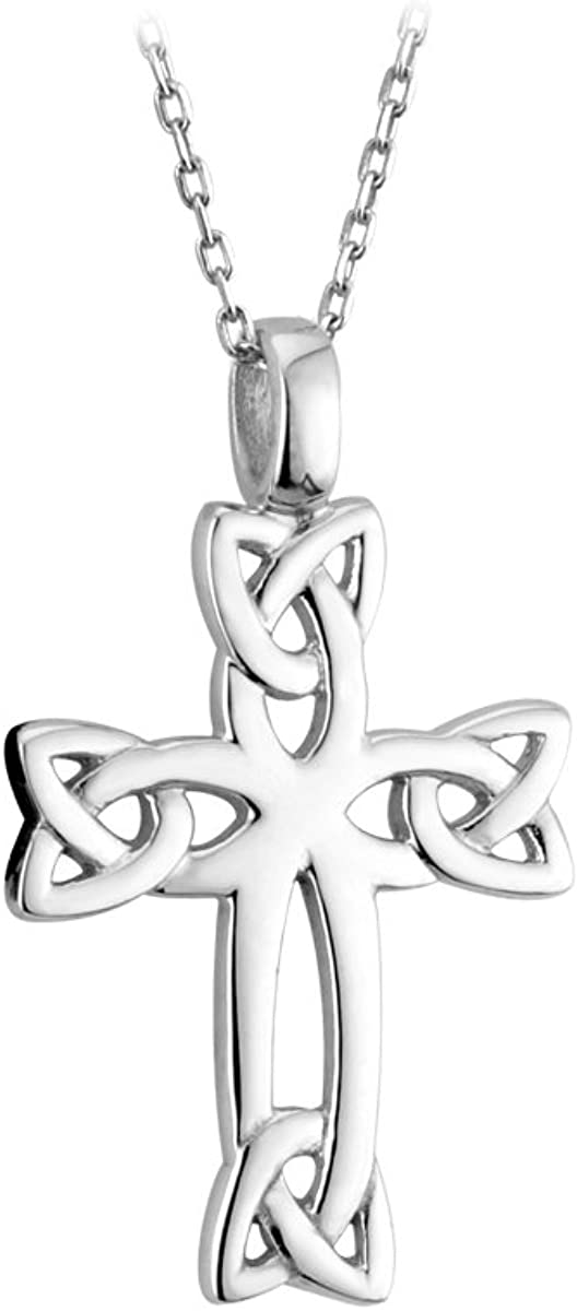"""Biddy Murphy Celtic Cross Sterling Silver 18"""" 20"""" 24"""" Chains Available Made in Ireland"""