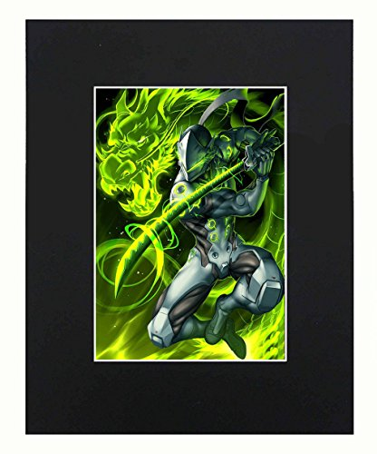 Overwatch Game GENJI Sexy 8x10 Black Matted Art Artworks Print Paintings Printed Picture Photograph Poster Gift Wall Decor Display USA Seller