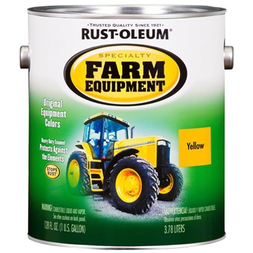 RUST-OLEUM 7449402 Gallon Caterpillar Yellow Bright Enamel Paint
