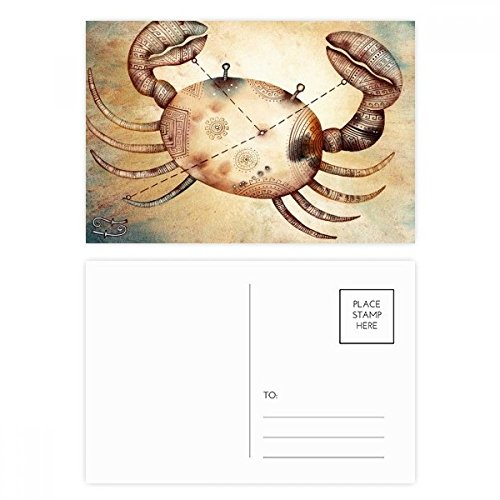 June July Cancer Constellation Zodiac Postcard Set Birthday Thanks Card Mailing Side 20pcs by DIYthinker