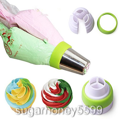 3 Seperated Hole Decorating Icing Piping Nozzle Converter Adapter Fondant Cake Baking Tool (Cupcake Wars Halloween Episode)