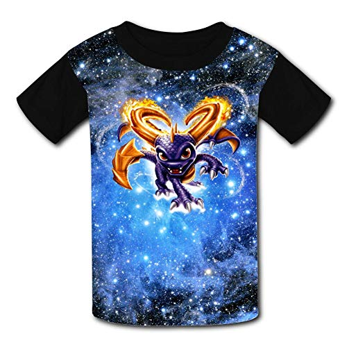 BEKAI Magic SP-yro The Dragon Youth Summer Kids Short Sleeve Comfortable Printed T-Shirts Tees for Children Boys Girls Black]()