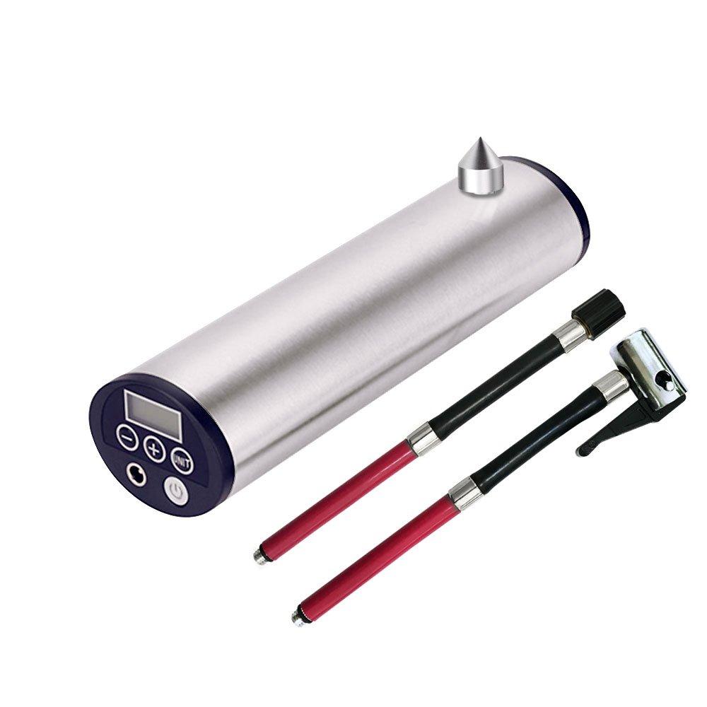 空気入れ 自動車自転車用ポンプ ポンピィ ブラック (Silver-A) B07B3KGL3Y