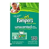 : Pampers Baby Wipes Refills, Natural Aloe, Unscented, 770 Wipes