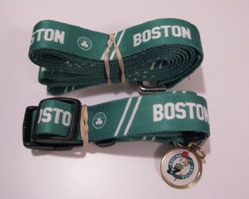 Hunter Boston Celtics Pet Combo Set (Collar, Lead, ID Tag), Small Size