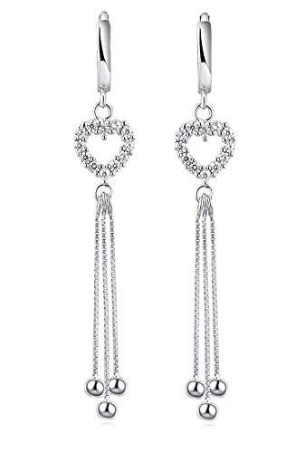 Tuscany Silver Women's Sterling Silver Ethnic Bead Dangle and Drop Earrings of 7 x 61 mm 8.54.3649 S9omq