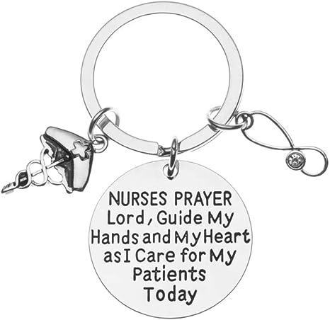 Infinity Collection Nurse Keychain, Nurse Gift, Nurse Prayer Keychain, Nursing Keychain Makes Perfect Nurses Gift