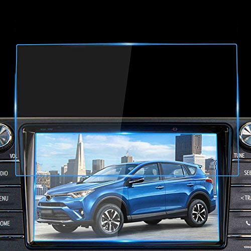 WINKA Car Navigation Screen Protector for 2018 2019 Toyota RAV4 Scratch-Resistant Ultra HD in-Dash Clear Tempered Glass Screen 9H Hardness 0.33mm
