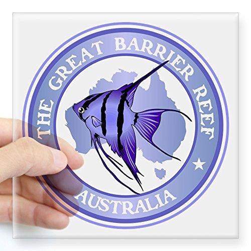CafePress Australia The Great Barrier Reef Sticker Square Bumper Sticker Car Decal, 3