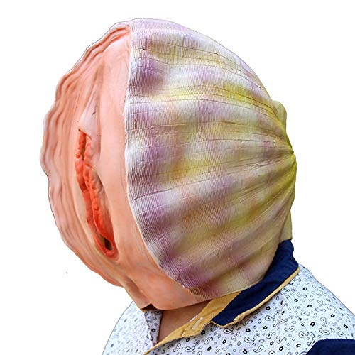 (Halloween Creative Latex Mask Shell Head Funny)