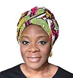 African Head Wrap Tribal Scarf Gele Headgear Made Of Ankara Multi Fabric
