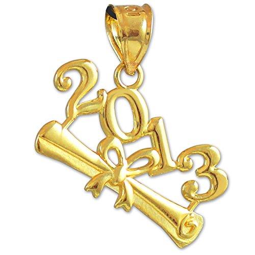 "10 ct 471/1000 ""Classe de 2013""-Graduation Or Pendentif"
