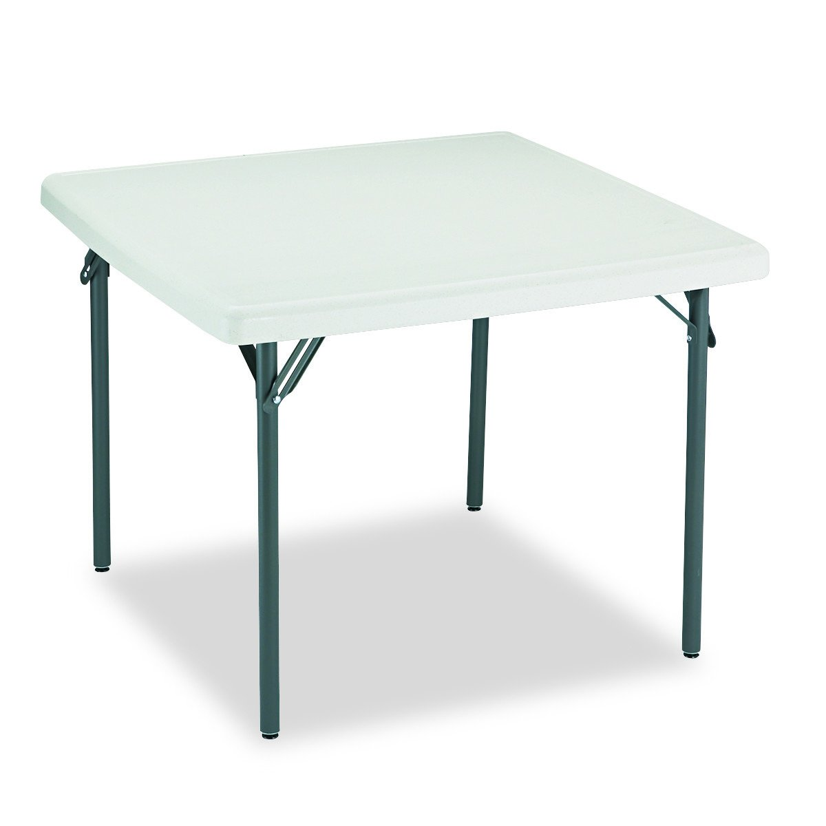 Iceberg 65273 IndestrucTable TOO Folding Table, 37'' Square, Platinum (Made in USA) by Iceberg