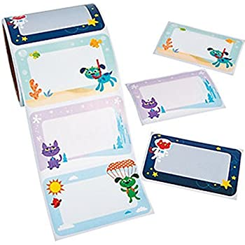 100 Adventure Pets Dog and Cat Name Tag Labels ~ Roll Stickers
