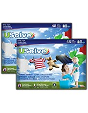Usolve, Eco-Friendly & Plastic-Free Laundry Detergent Strips(48 Loads, 2-Pack, Total 96 Loads). Fresh Scent - Hypoallergenic, Biodegradable & Ultra Concentrated