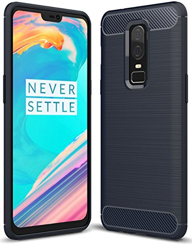 LG G7 ThinQ case, LG G7 Case, Suensan TPU Shock Absorption Technology Raised Bezels Protective Case Cover for LG G7 smartphone (Blue)