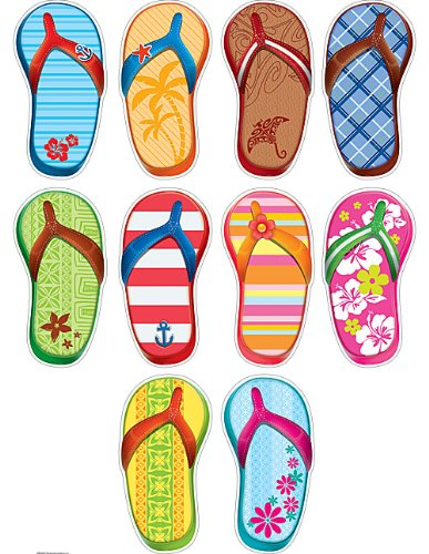 Teacher Created Resources 5353 Flip Flop Accents (Decorations Flop Flip)