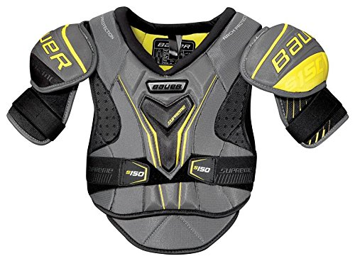 Bauer S17 Supreme S150 Junior Shoulder Pad, Grey/Black, Large
