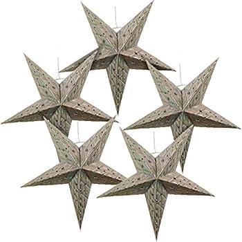 Just Artifacts Star Shaped Paper Lantern Lamp Hanging