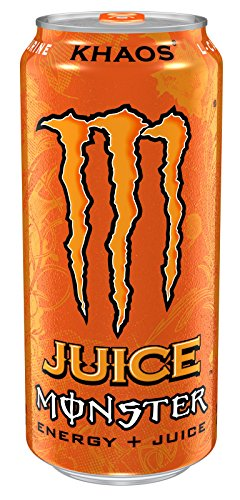 Juice Monster Energy, Khaos, 16 Ounce (Pack of 24) (Monster Energy Cans)