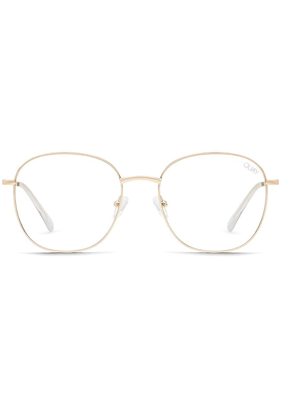 Quay Australia bluee Light Lens Jezabell Glasses in gold Frame, One Size