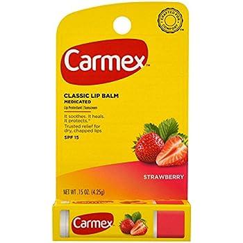 Carmex Click-Stick Moisturizing Lip Balm SPF 15, Cherry 0.15 oz (Pack of 2) Vaseline Lip Therapy, Creme Brulee 0.25 Oz (3 Pack)