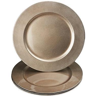 bogo Brands 13  Copper Toned Plastic Charger Plates (6)