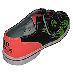 Linds Womens Flame Glow Rental Bowling Shoes- Hook and Loop (10 M US, Flame)