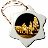 3dRose orn_86677_1 Cathedral of Morelia, Michoacn de Ocampo, Mexico - SA13 HGA0033 - Howie Garber - Snowflake Ornament, Porcelain, 3-Inch