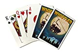 Whistler, Canada - Ski Lift and Full Moon (Playing Card Deck - 52 Card Poker Size with Jokers)