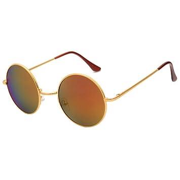 Aoligei Bright Ocean couleur miroir de Prince de grosses lunettes rondes lunettes de soleil lunettes de soleil cadre rond mignon japonais et coréens zMfOGU8