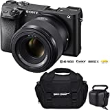 Sony Alpha a6300 4K Mirrorless APS-C Digital Camera with FE 50mm F1.8 Prime Lens For Sale