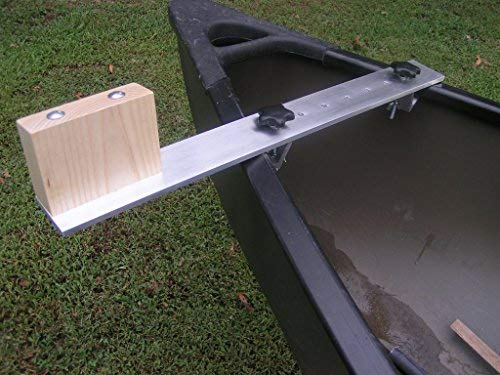 (Canoe Trolling Motor Mount Bracket with Aluminum Crossbar and Solid Ash Motor Block)
