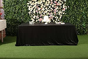 PartyDelight Sequin Tablecloth, Rectangular Square Round Tablecloth