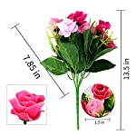 SUPNIU-Artificial-Fake-Flowers-Plants-Silk-Rose-Flower-Arrangements-Wedding-Bouquets-Decorations-for-Table-Centerpieces-Home-Garden-Party-Wedding-Dcor-Pack-of-3Blue-Rose-Pink-Rose