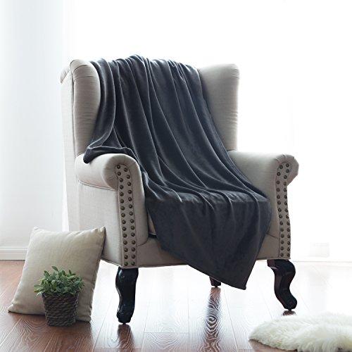 Flannel Blanket Lightweight Microfiber Bedsure