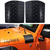 Bentolin Cowl Body Armor Powder Coated Finish Outer Cowling Cover for Jeep Wrangler JK Rubicon Sahara Sport X & Unlimited 2/4 Door 2007-2018