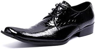 YCGCM Chaussures en Cuir pour Hommes Ont Souligné La Robe d'affaires Chaussures pour Hommes Chaussures Respirantes Britanniques