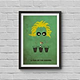 Beetlejuice Minimalist Poster Tim Burton Alternative Movie Print It's Showtime Vintage Pop Culture and Modern Home Decor Cinema Poster Artwork Wall Art Wall Hanging Cool Gift