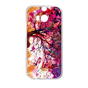 Creative Colorful Tree Graffiti Custom Protective Hard Phone Cae For HTC One M8