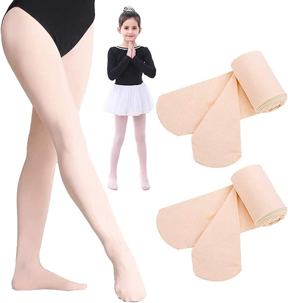 Matchwill 2 Paia Collant da Balletto Calze da Danza per Ballerine per Bambini e Ragazze Donna