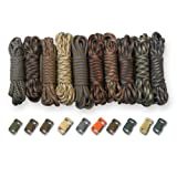 PARACORD PLANET 550lb Type III Paracord Combo Crafting Kits with Buckles (CAMO MAN)