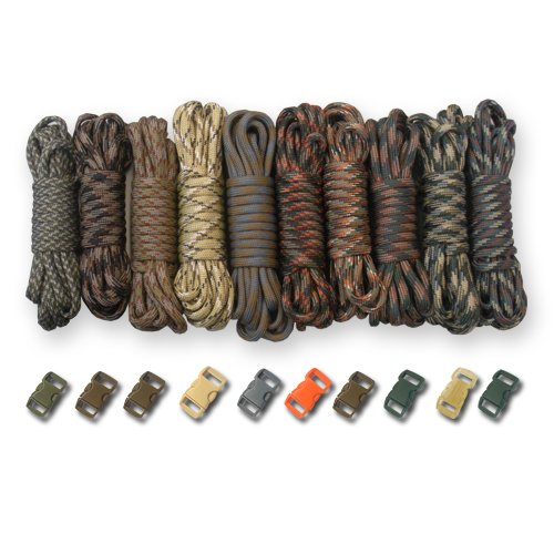 PARACORD PLANET 550lb Type III Paracord Combo Crafting Kits with Buckles (CAMO Man) by PARACORD PLANET (Image #1)