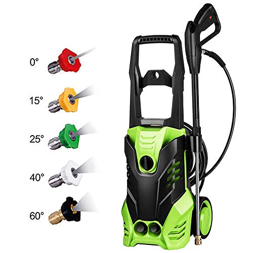 Pressure Electrical - Schafter ST3 3000 PSI Power Washer, 1800W Pressure Washer, 14.5-Amp Electric Pressure Washer, High Pressure Washer Cleaner Machine for Car/Vehicle/Patio/Driveway/Floor/Wall/Furniture W/ 5 Nozzles