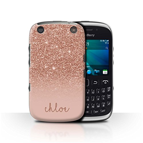Personalized Custom Glitter Effect Case for BlackBerry Curve 9320 / Rose Gold Design/Initial/Name/Text DIY Cover